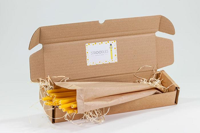 Η εταιρεία Stroodles κατασκευάζει καλαμάκια από ζυμαρικά που θυμίζουν τα μακαρόνια για παστίτσιο