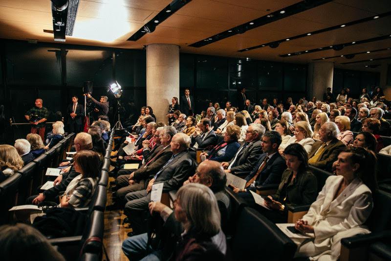 Κατάμεστη η αίθουσα κατά τη διάρκεια της εκδήλωσης