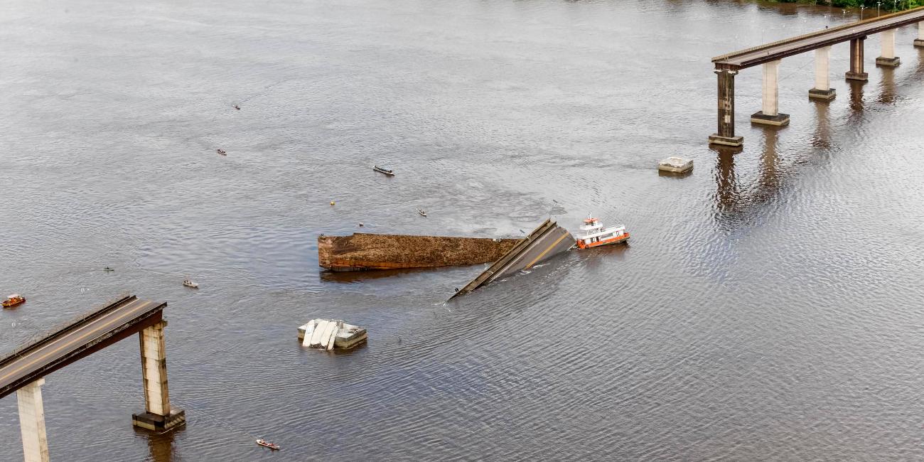 Κομμάτι μήκους 200 μέτρων έχει πέσει στον ποταμό Μότζου