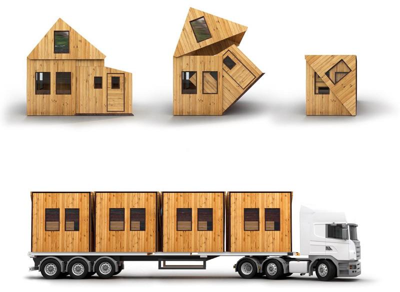 Ο τρόπος που ξεδιπλώνεται για την δημιουργία ενός μικροσκοπικού σπιτιού
