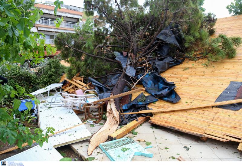 Εκτεταμένες οι καταστροφές στην Χαλκιδική