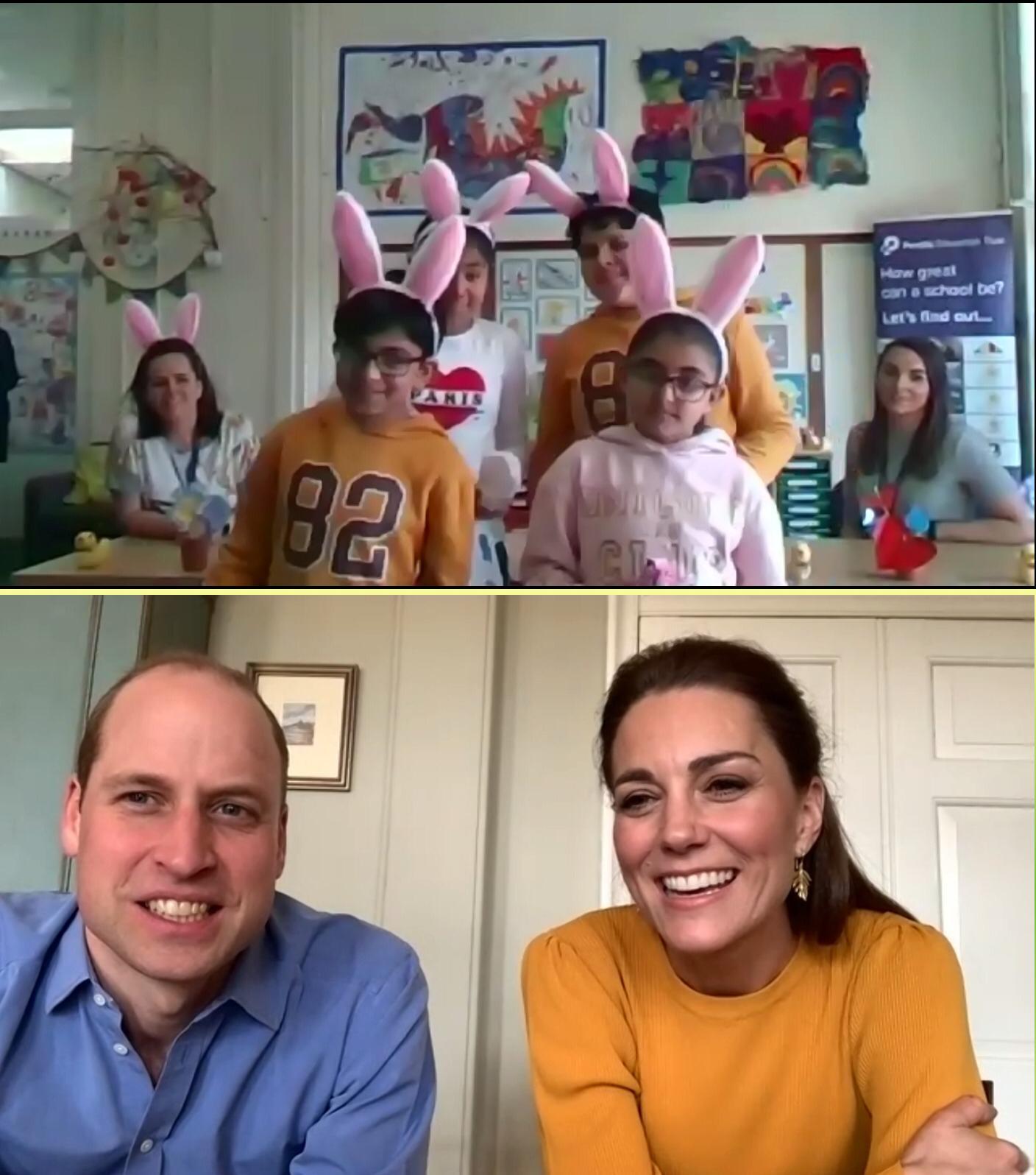 Κέιτ Μίντλτον και πρίγκιπας Ουίλιαμ σε τηλεδιάσκεψη με σχολεία στη Βρετανία όπου εξακολουθούν να πηγαίνουν παιδάκια γονέων που εργάζονται στο σύστημα υγείας
