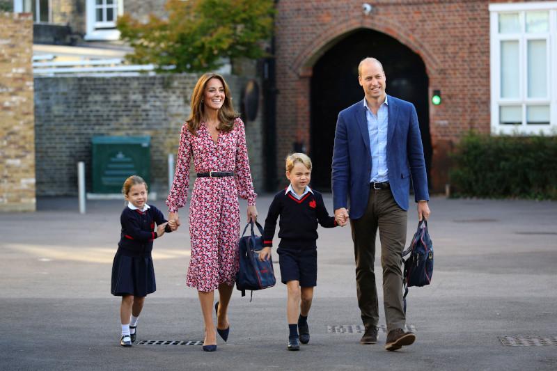 Κέιτ Μίντλετον και πρίγκιπας Γουίλιαμ την πρώτη ημέρα του σχολείου των παιδιών τους