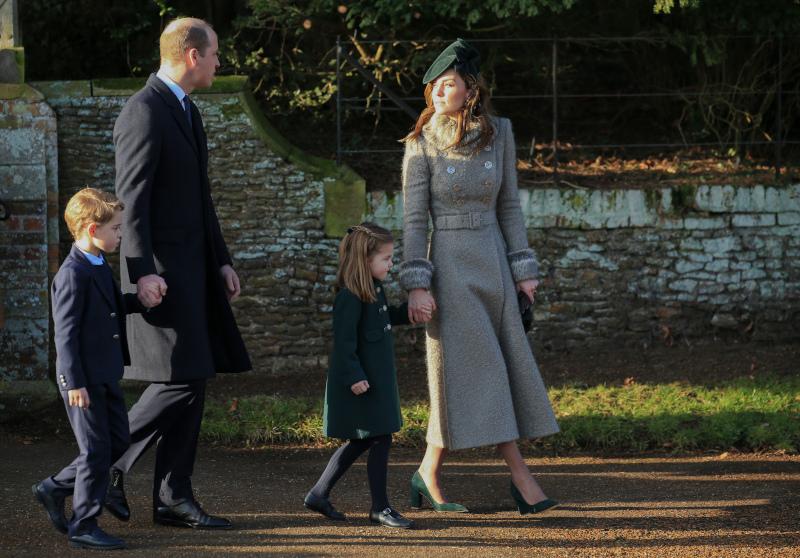 Ο Πρίγκιπας Γουίλιαμ και η Κέιτ Μίντλετον με τον Τζορτζ και τη Σάρλοτ