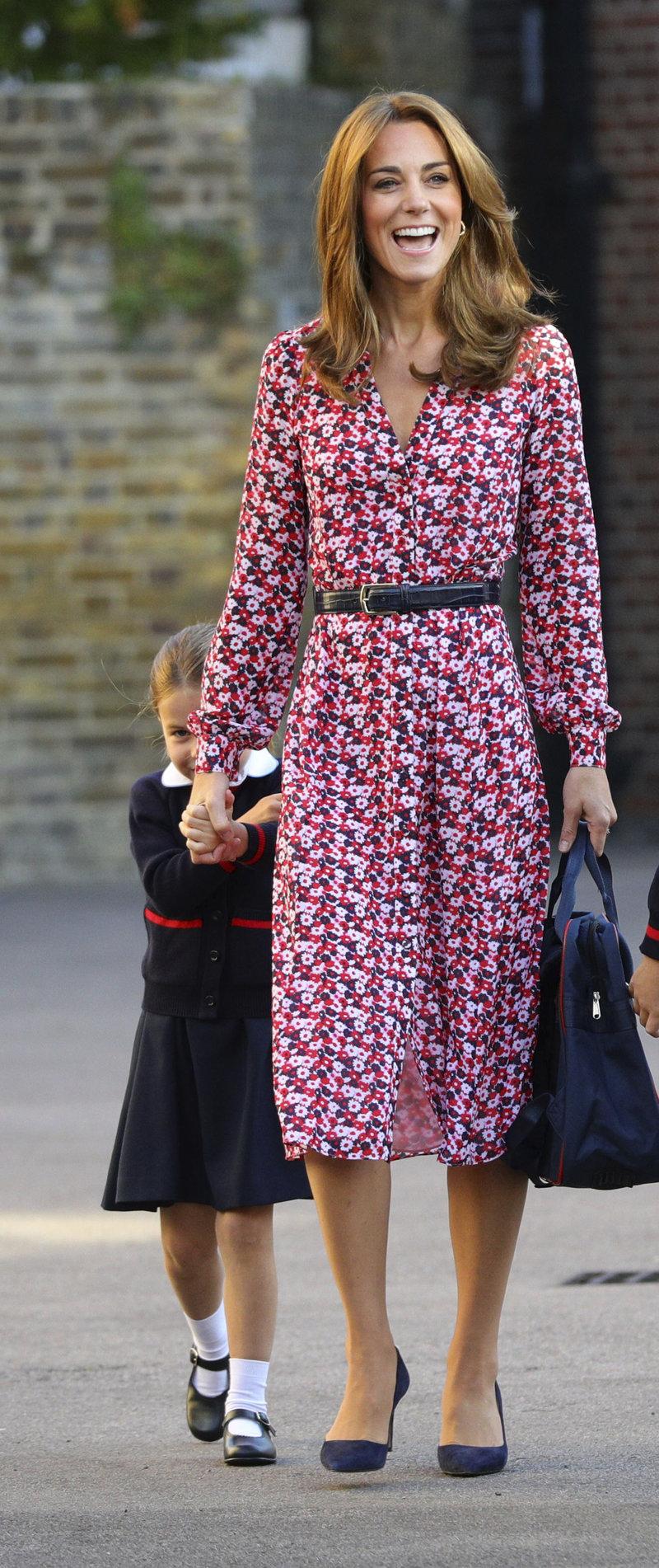 Κέιτ Μίντλετον πριγκίπισσα Σάρλοτ πρώτη ημέρα στο σχολείο