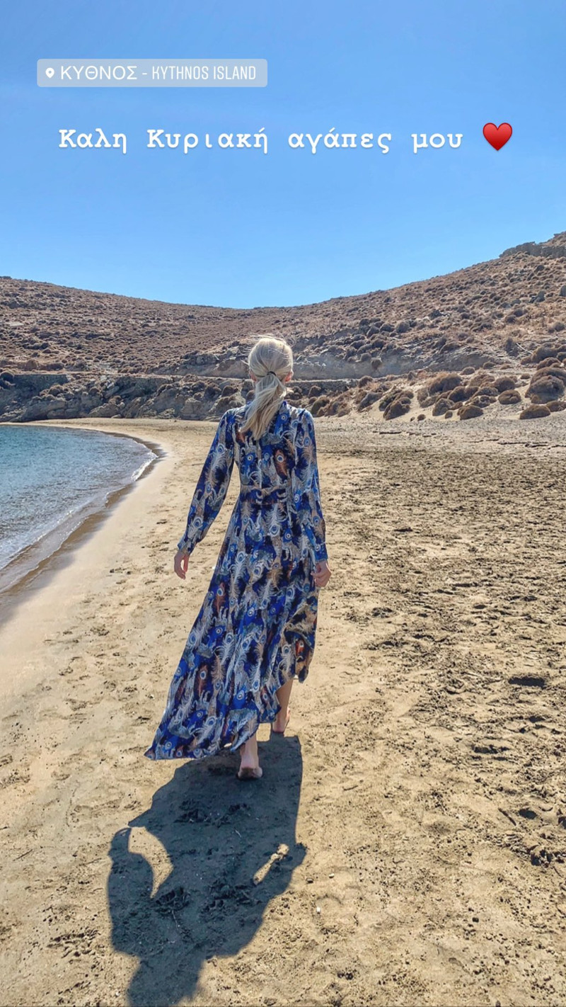 Η Κατερίνα Καινούργιου χαλαρώνει στην Κύθνο / Φωτογραφίες: Instagram