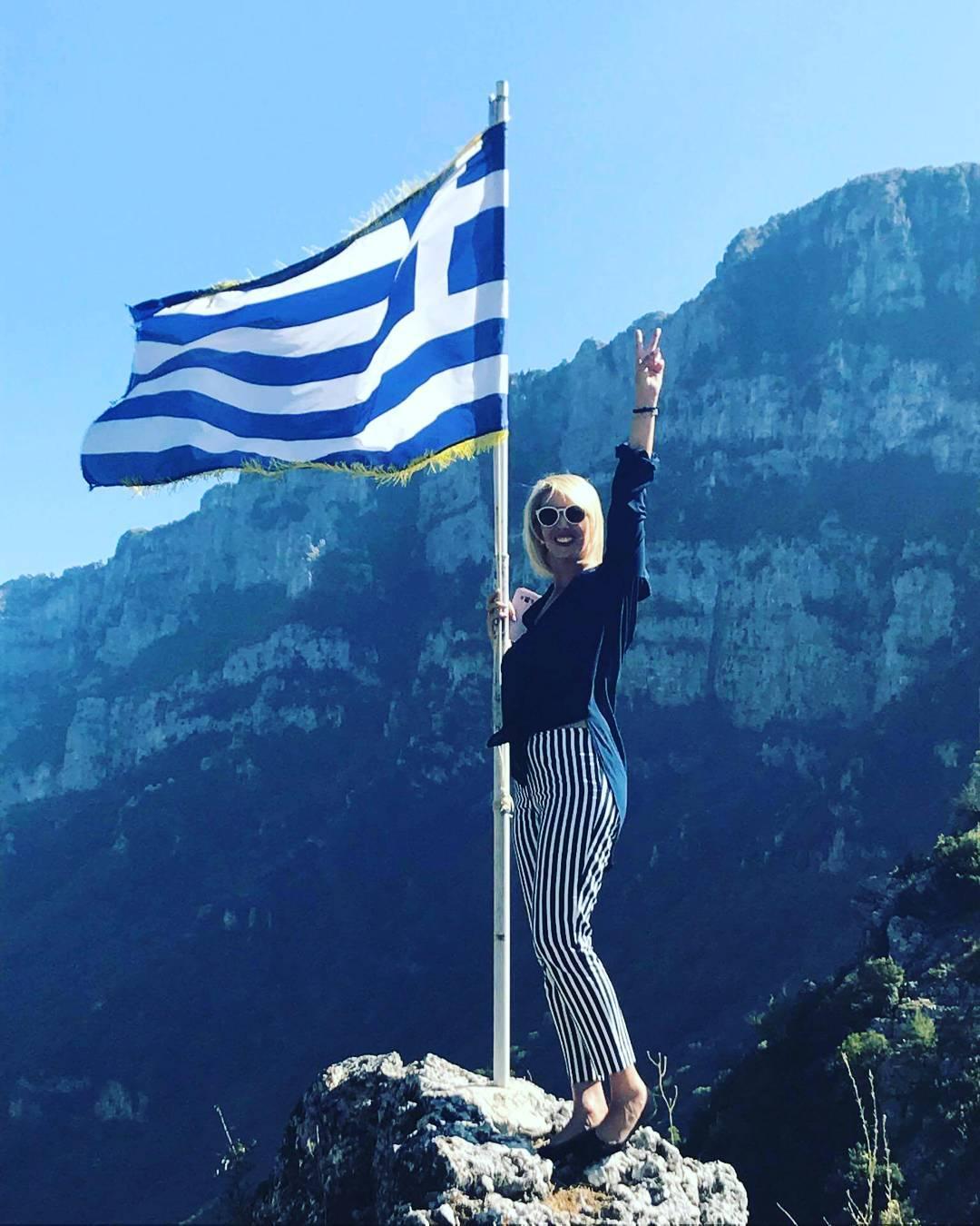Η Κατερίνα Μονογυιού σε μια από τις φωτογραφίες της στο Instagram