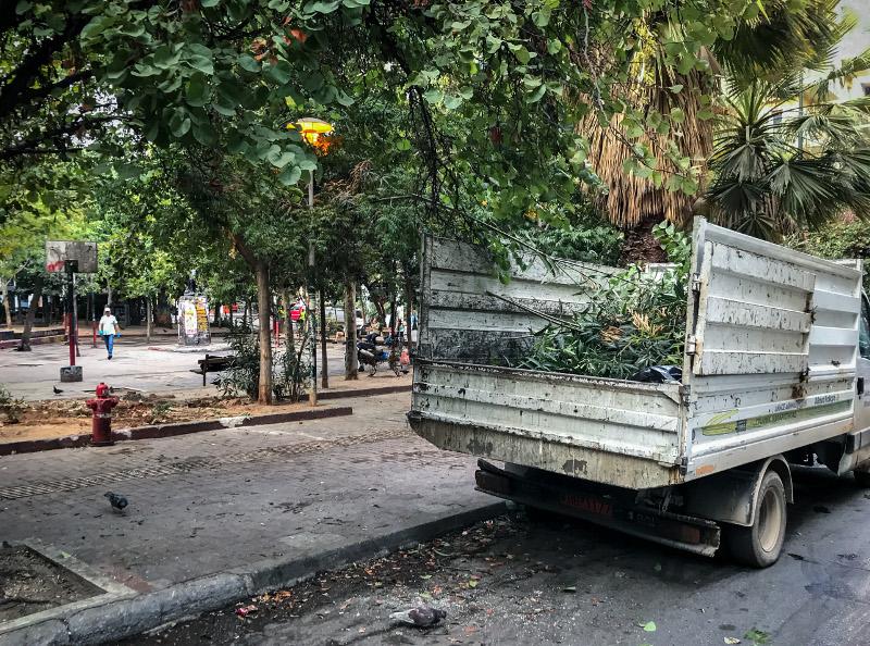 Το φορτηγάκι του δήμου Αθηναίων