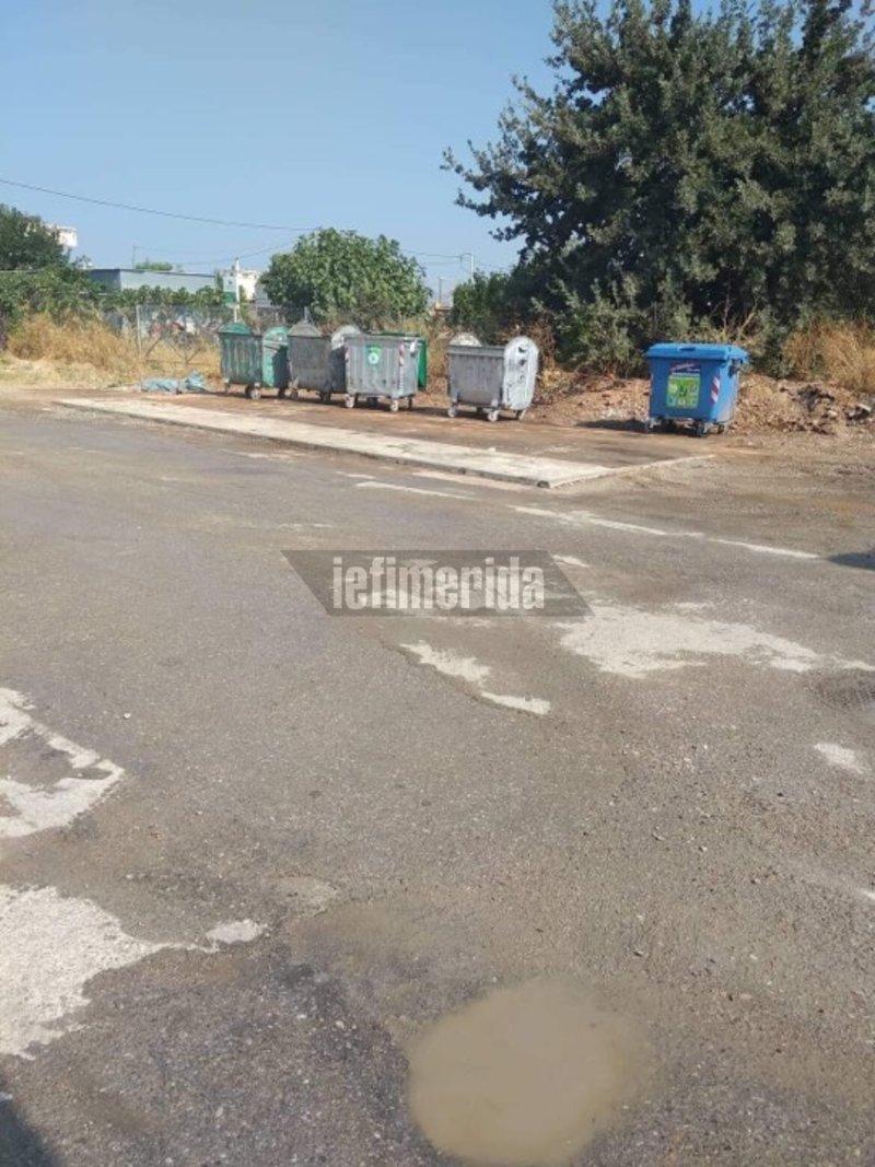 Η περιοχή έπειτα από τον καθαρισμό του συνεργείου από τον δήμο