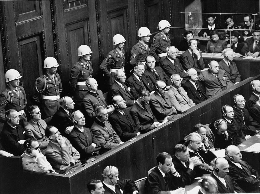 Οι κατηγορούμενοι για τη Δίκη της Νυρεμβέργης