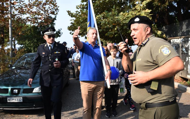 Μπλόκο αστυνομικών στην παρέλαση της Θεσσαλονίκης