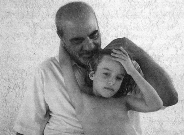 Ο Στέλιος Καζαντζίδης με την εγγονή του.
