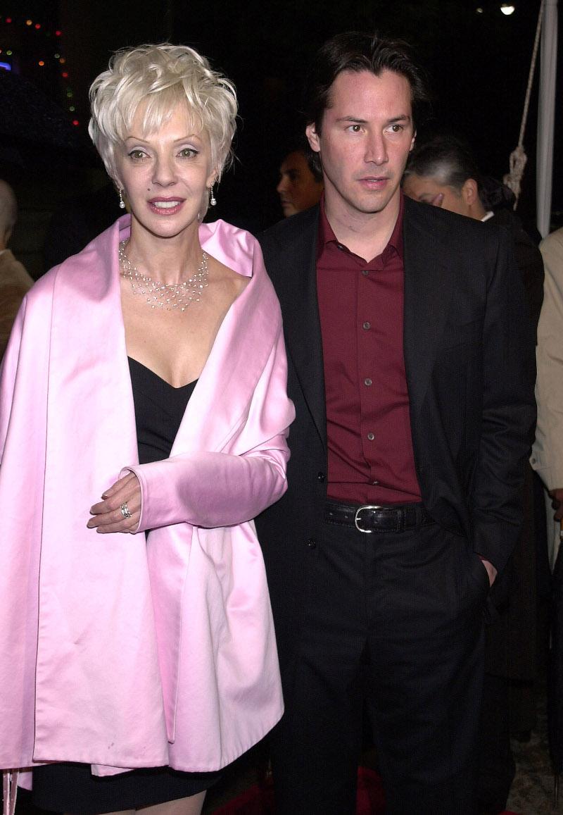 Ο Κιάνου Ριβς με την μητέρα του στην πρεμιέρα της ταινίας «Matrix»