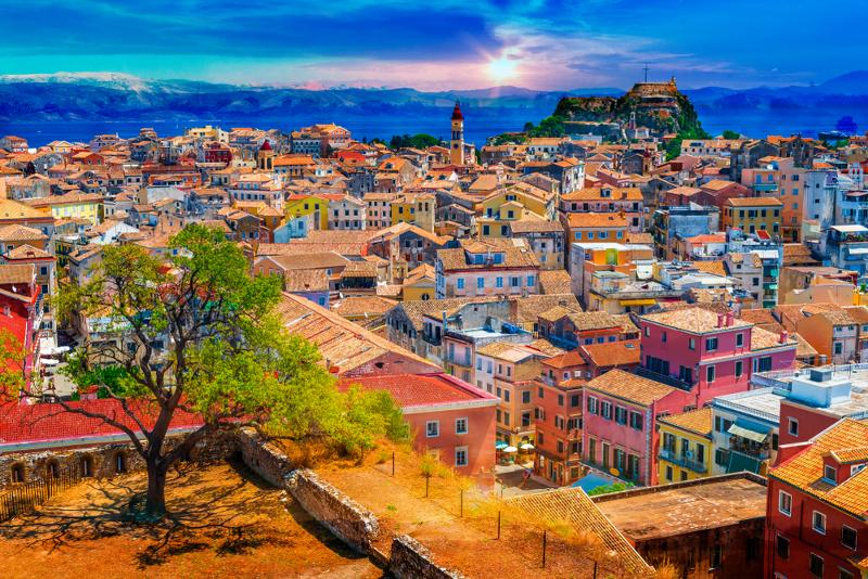 Πανοραμική φωτογραφία της πόλης της Κέρκυρας