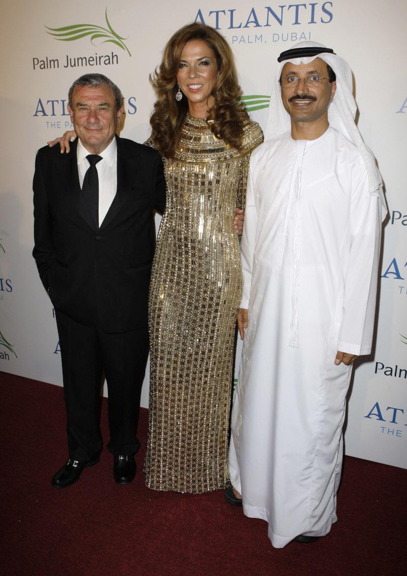 Ο Κέρζνερ με τη γυναίκα του Χέδερ και τον Sultan Ahmed bin Sulayem το 2008