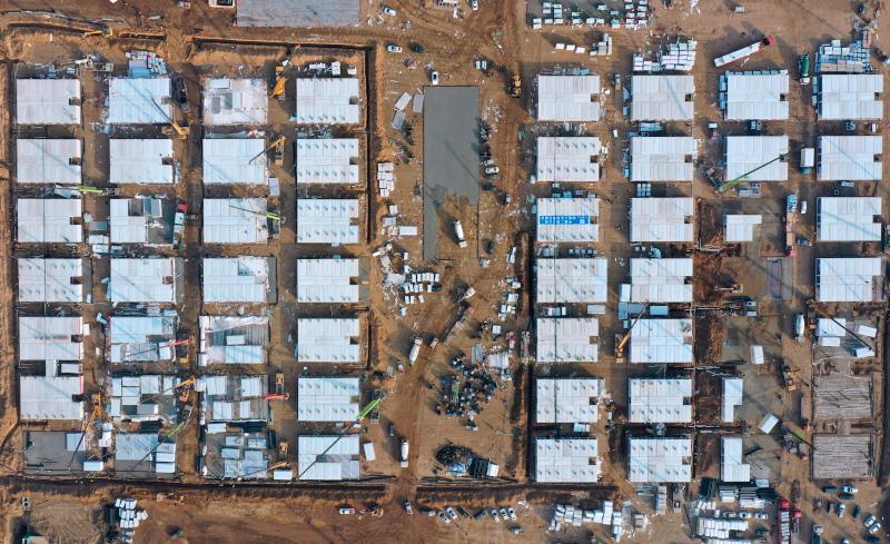 Το τεράστιο κέντρο καραντίνας στην Κίνα από ψηλά