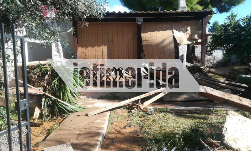 Η απόλυτη καταστροφή σε αυλή σπιτιού στην Κινέτα