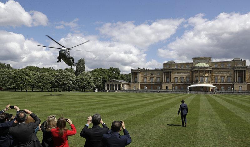 Ελικόπτερο Αμερικανού Προέδρου στο Μπάκιγχαμ.