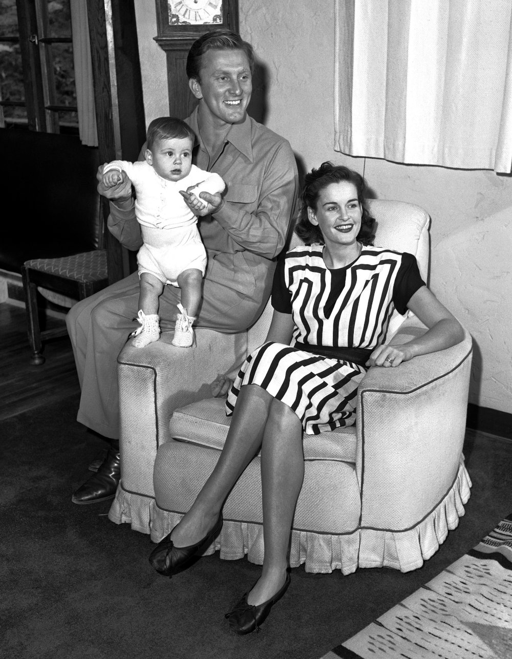 Ο Κερκ Ντάγκλας με την πρώτη του σύζυγο Νταϊάνα