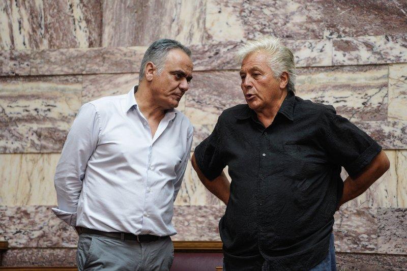 Ο Θανάσης Παπαχριστόπουλος με τον Νίκο Σκουρλέτη