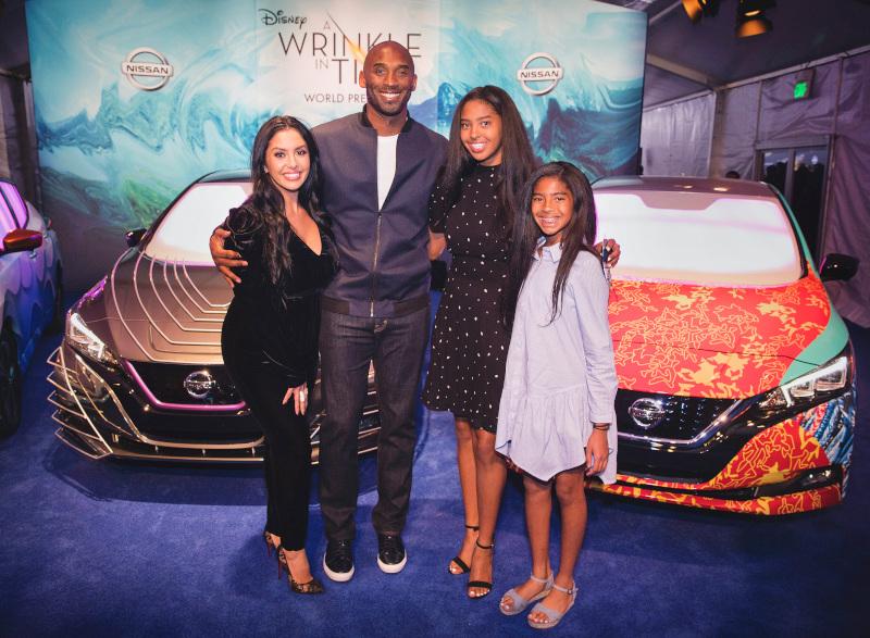 Ο Κόμπι Μπράιαντ με τη σύζυγό του και τις δύο μεγαλύτερες κόρες του / Φωτογραφία: ΑΡ