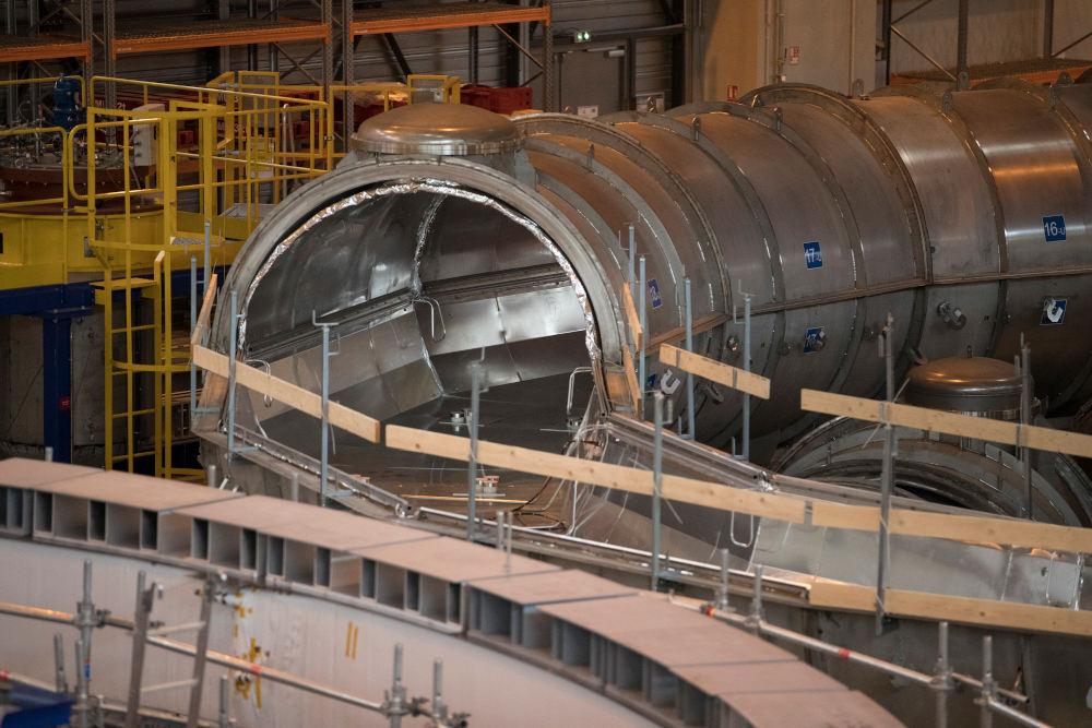 Τμήμα των εγκαταστάσεων του ITER