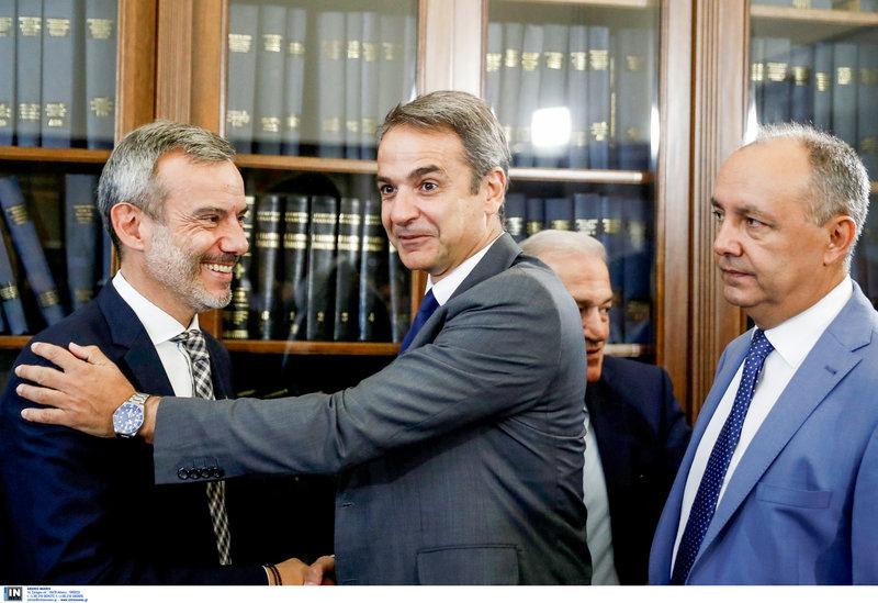 Ο Κυριάκος Μητσοτάκης και ο Κωνσταντίνος Ζέρβας