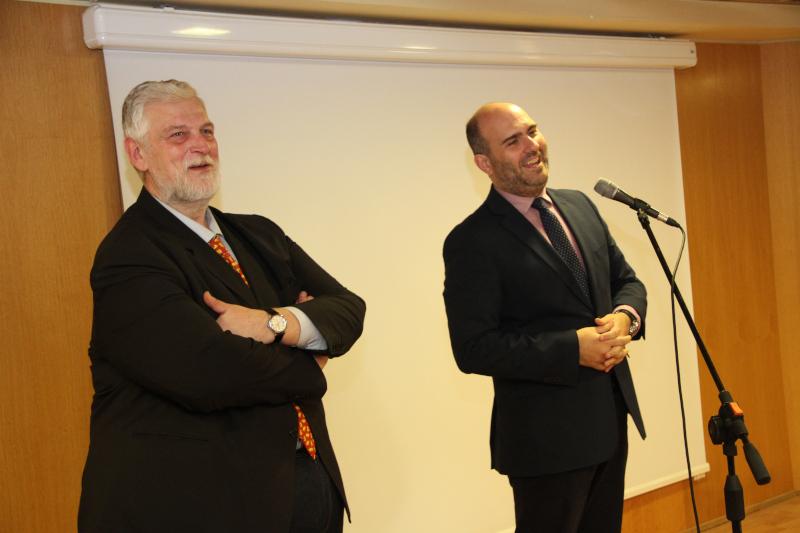 O Γιάννης Λοβέρδος με τον Δημήτρη Μαρκόπουλο