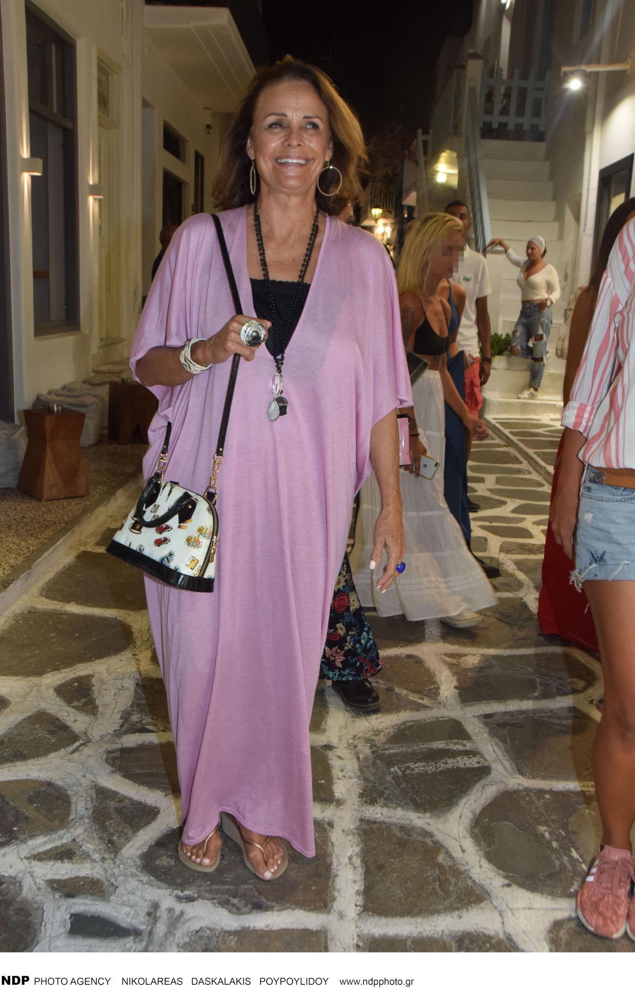 Η Κορίνα Τσοπέη στη Μύκονο το 2018