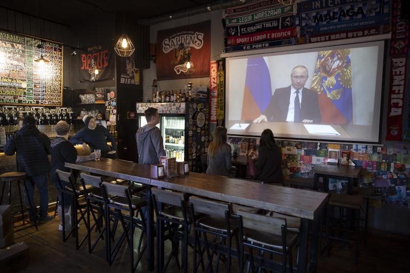 Ο Βλαντιμίρ Πούτιν στο τηλεοπτικό του διάγγελμα