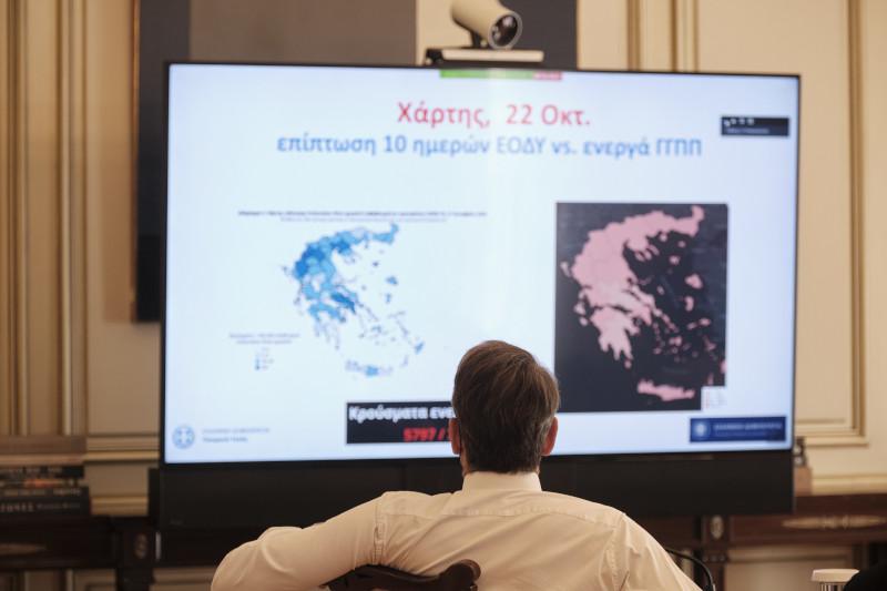 κορωνοϊός Κυριάκος Μητσοτάκης και Τσιόρας σε τηλεδιάσκεψη με περιφερειάρχες