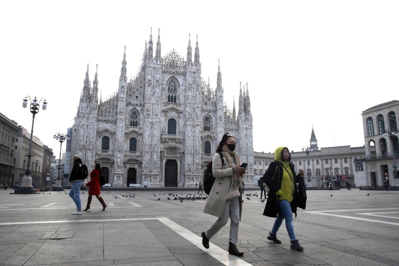 Ο καθεδρικός του Μιλάνου - Υπό νορμάλ συνθήκες η πλατεία θα ήταν γεμάτη από τουρίστες
