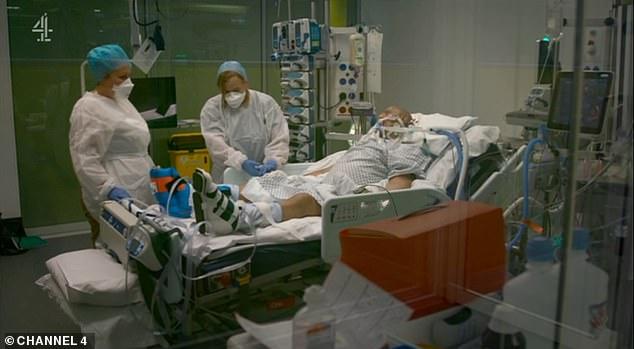 ασθενής με κορωνοϊό σε νοσοκομείο