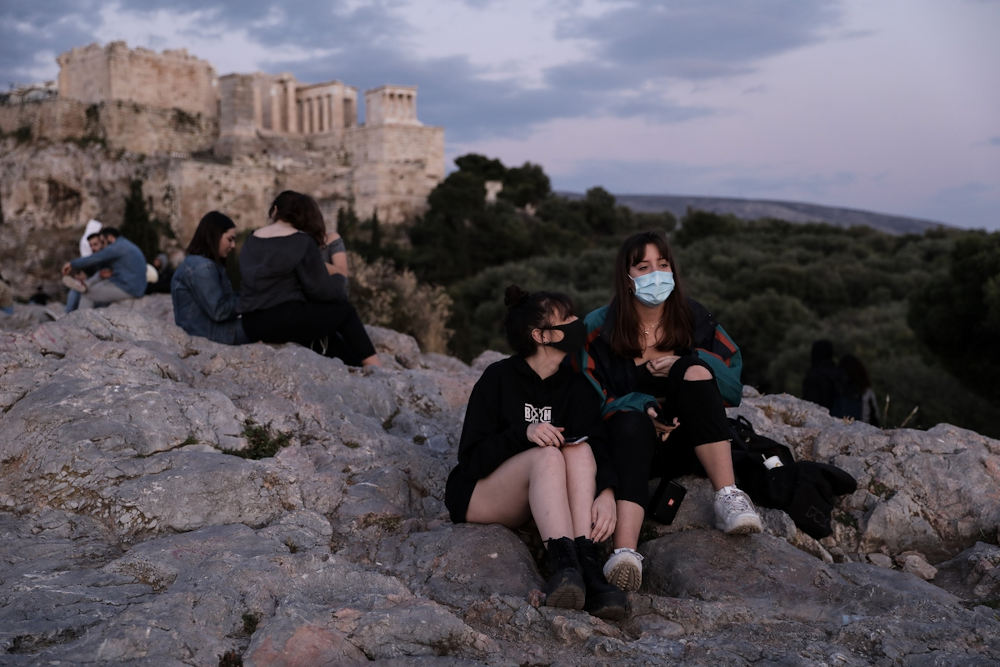 Εικόνα της Ακρόπολης κατά τη διάρκεια της καραντίνας / Φωτογραφία: Konstantinos Tsakalidis / SOOC