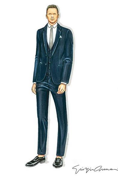 Το σχέδιο του Giorgio Armani για το γαμπριάτικο κοστούμι του Κρις Πρατ
