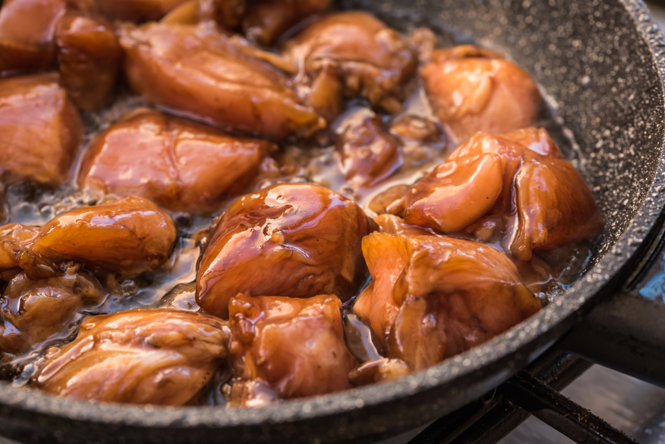 Κοτόπουλο με σόγια σος στο τηγάνι