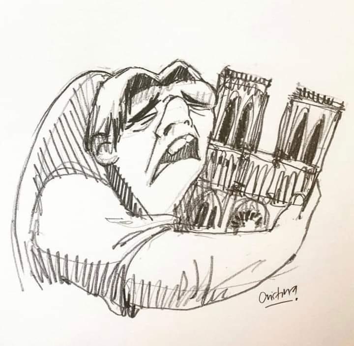 Κουασιμόδος Παναγία των Παρισίων σκίτσο