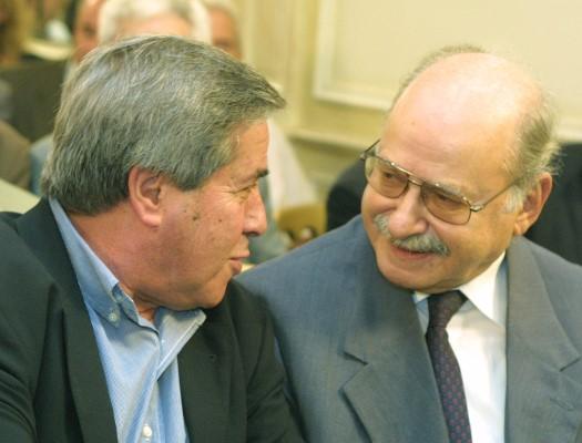 Ο Πέτρος Κουναλάκης με τον Λεωνίδα Κύρκο