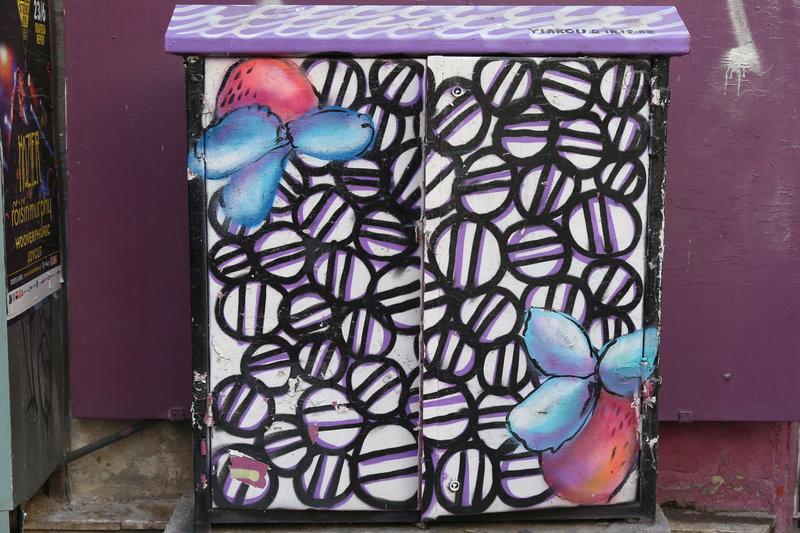 Καλλιτεχνική όψη πήραν κουτιά του ΟΤΕ στο κέντρο της Αθήνας