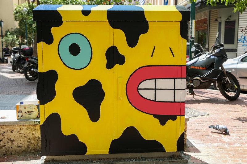 «Ζωντάνεψαν» τα κουτιά του ΟΤΕ στο κέντρο της Αθήνας