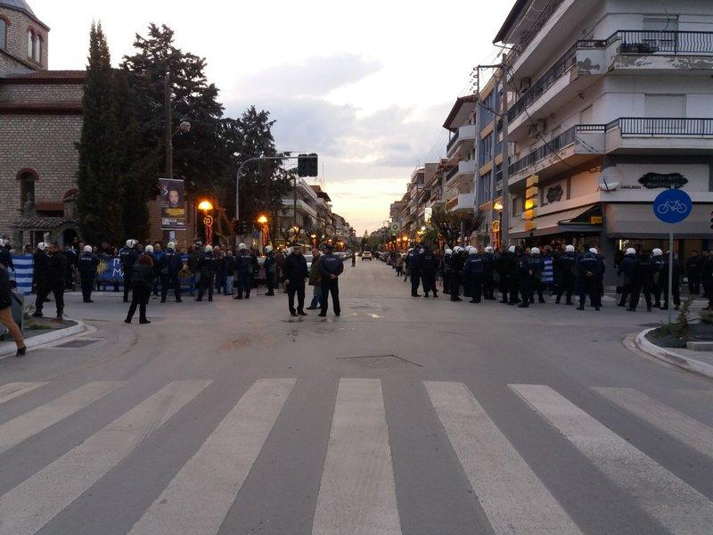 Ισχυρές αστυνομικές δυνάμεις στην Εορδαία -Φωτογραφία: kozan.gr