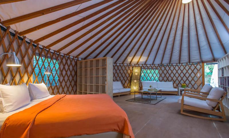 Η κρεβατοκάμαρα του Yurt