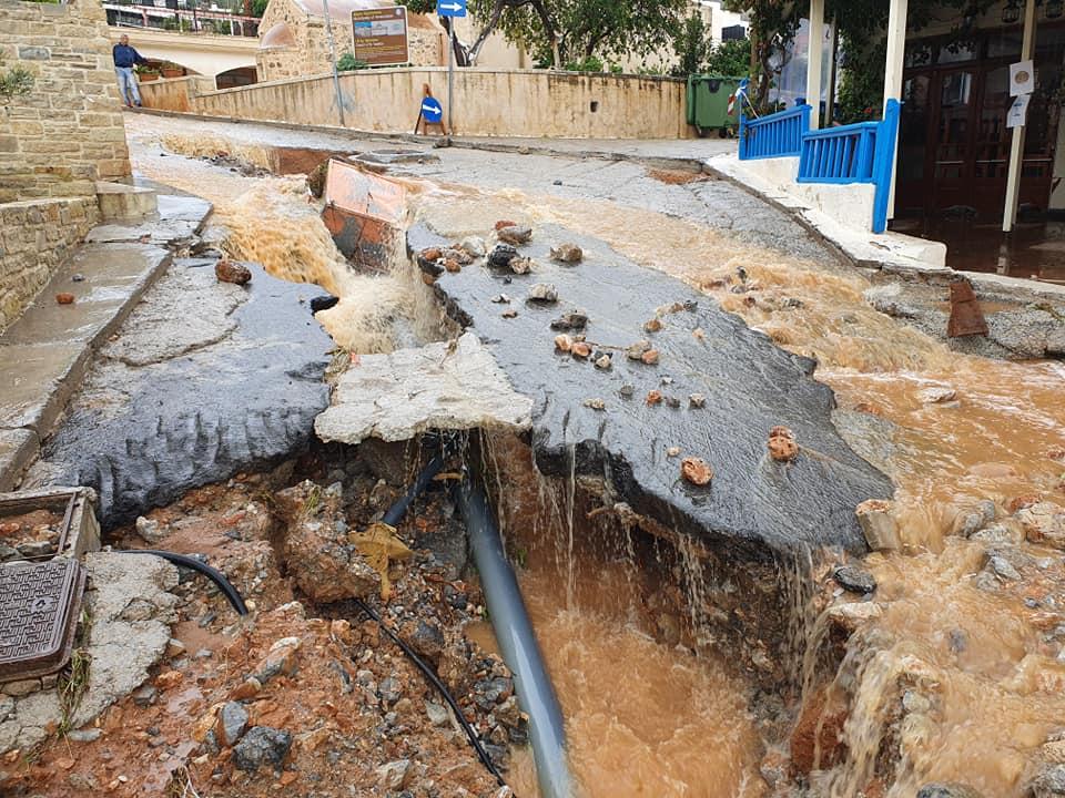 κακοκαιρία στην Κρήτη καταστροφές