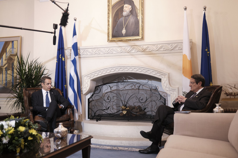 Κυριάκος Μητσοτάκης και Νίκος Αναστασιάδης