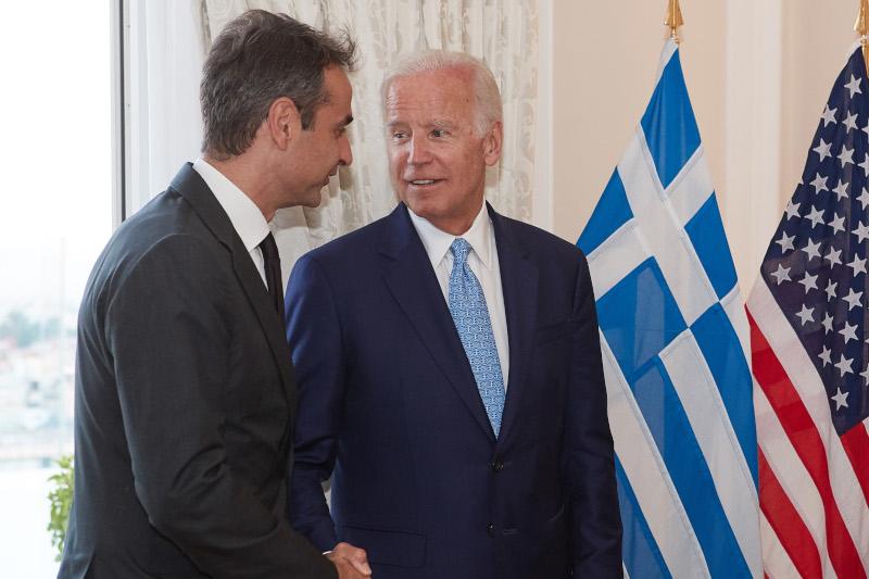 Κυριάκος Μητσοτάκης και Τζο Μπάιντεν
