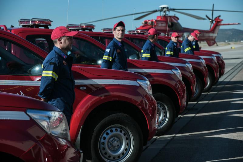 Κυριάκος Μητσοτάκης Πυροσβεστικά οχήματα Παπαστράτος