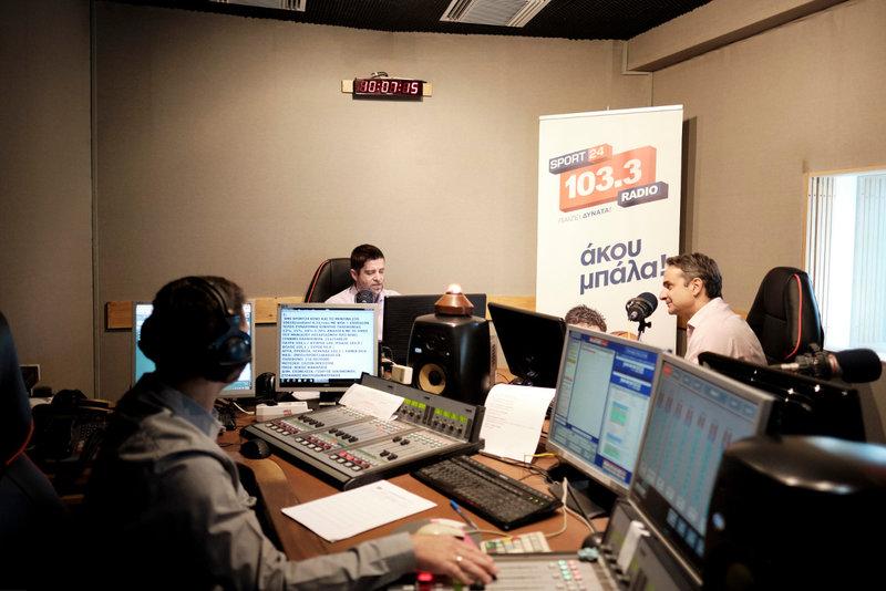 Ο Κυριάκος Μητσοτάκης στο στούντιο του Sport24