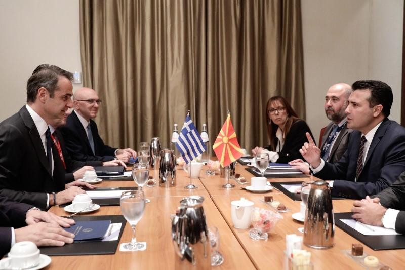 Κυριάκος Μητσοτάκης και Ζόραν Ζάεφ στη συνάντηση