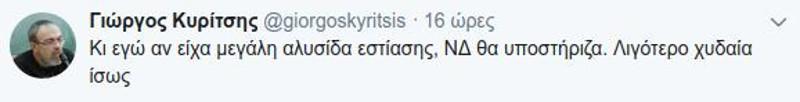 Το μήνυμα του βουλευτή του ΣΥΡΙΖΑ Γιώργου Κυρίτση