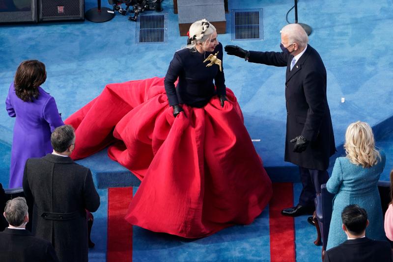 Η Lady Gaga στην τελετή ορκωμοσία του Τζο Μπάιντεν